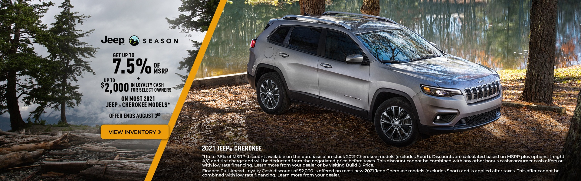 2021 Jeep Cherokee Promotional Banner