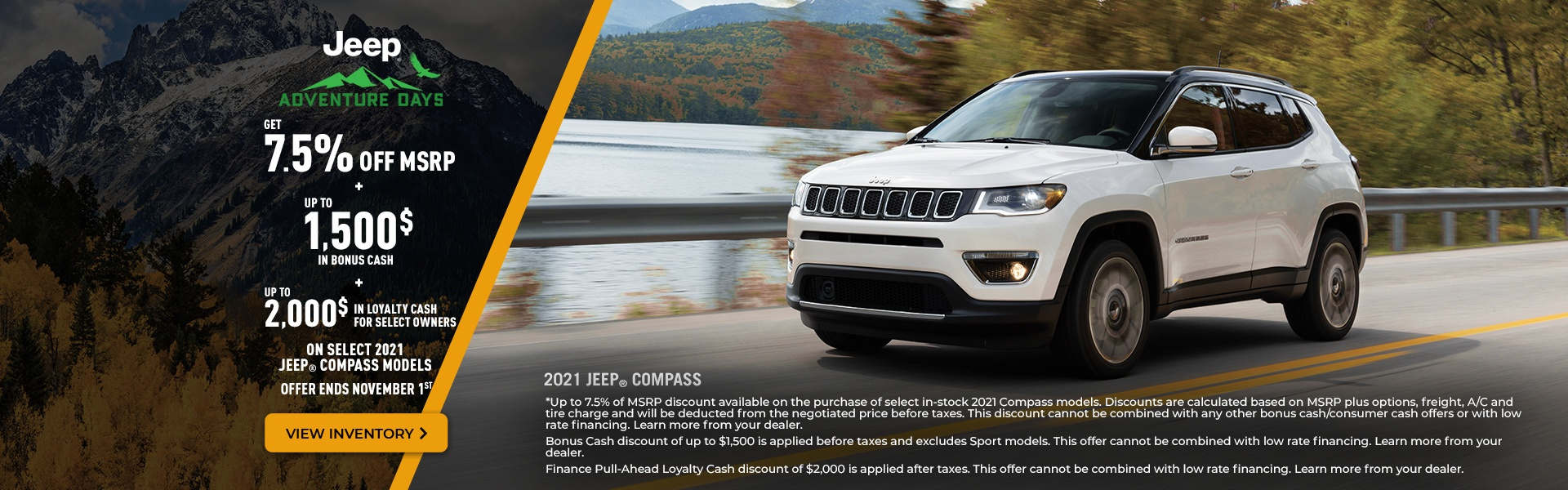 2021 Jeep Compass Promotional Banner